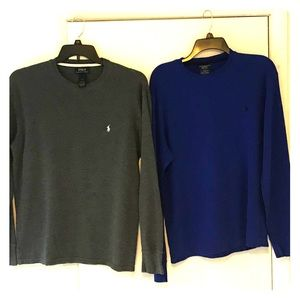 2–Ralph Lauren long sleeve thermal shirts size L